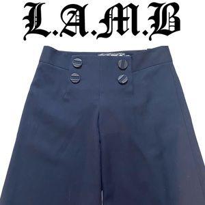 L.A.M.B by Gwen Stefani navy wide leg trousers